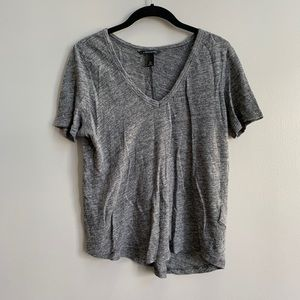 Banana Republic Gray Linen Tee Shirt